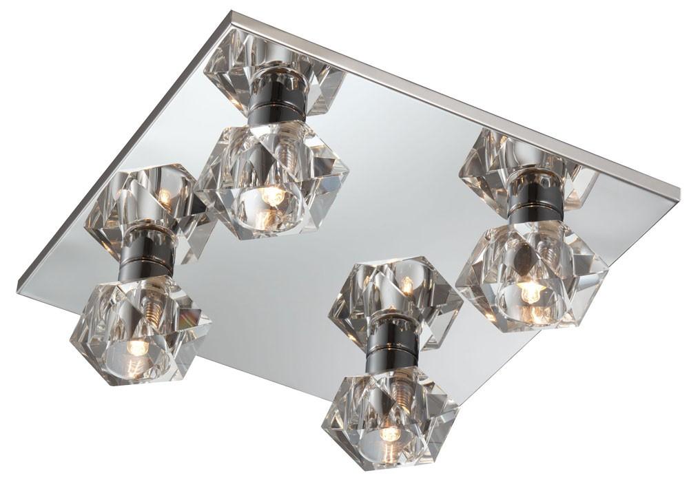 Deckenleuchten Kristallglas Deckenleuchte Wohnzimmerlampe Deckenlampe Ice Cube Cromo