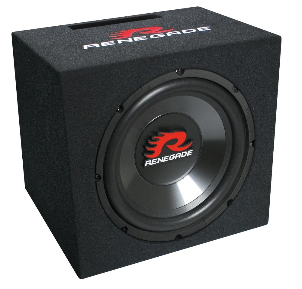 "30cm Bassbox Single-Bassreflex-System Basskiste 12"" 500 Watt Renegade RXV-1200"