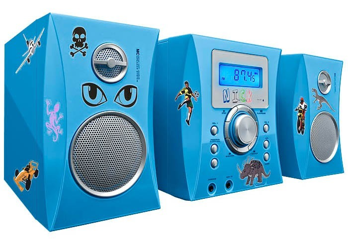 Kinder Musikcenter CD-Player Radio Stereo mit 500 Stickern Kids BigBen MCD04 blau