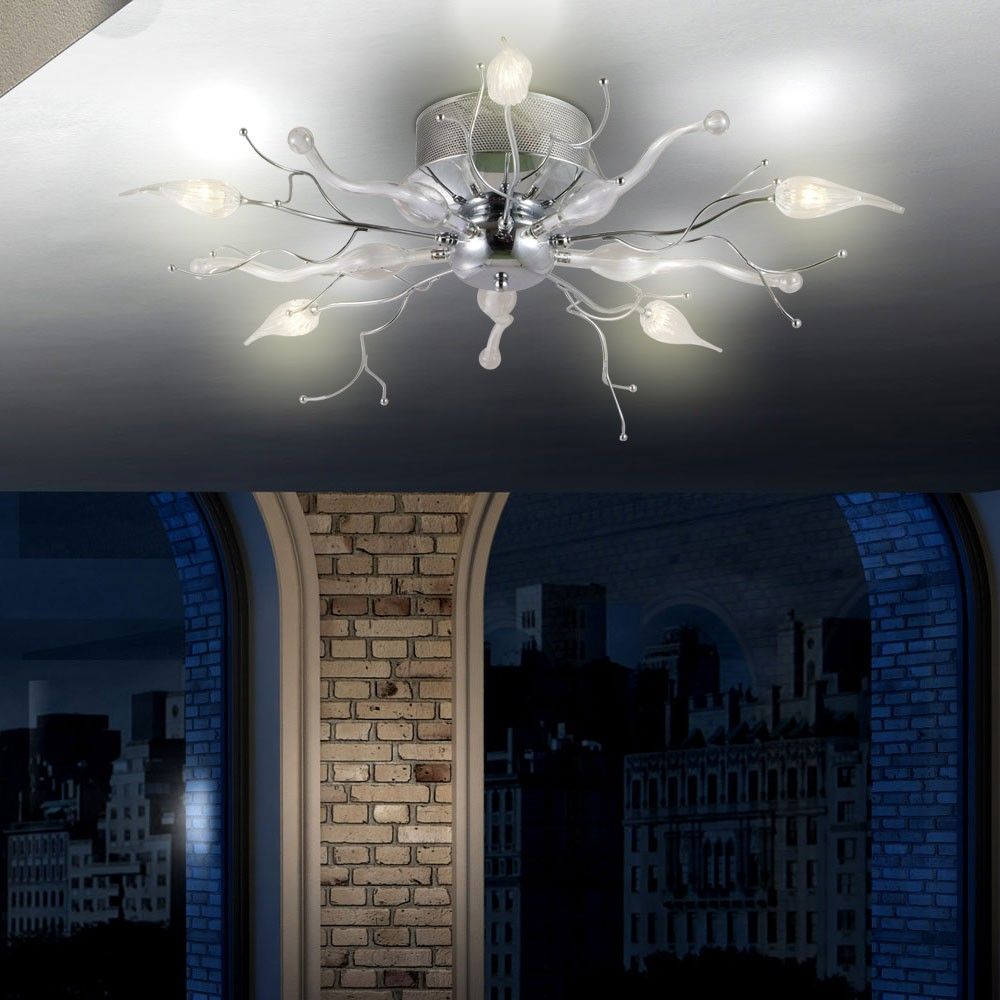 Kronleuchter 5x LED Licht Äste Wohnzimmer Leuchte Esszimmer Decken Lampe Blüten  eBay