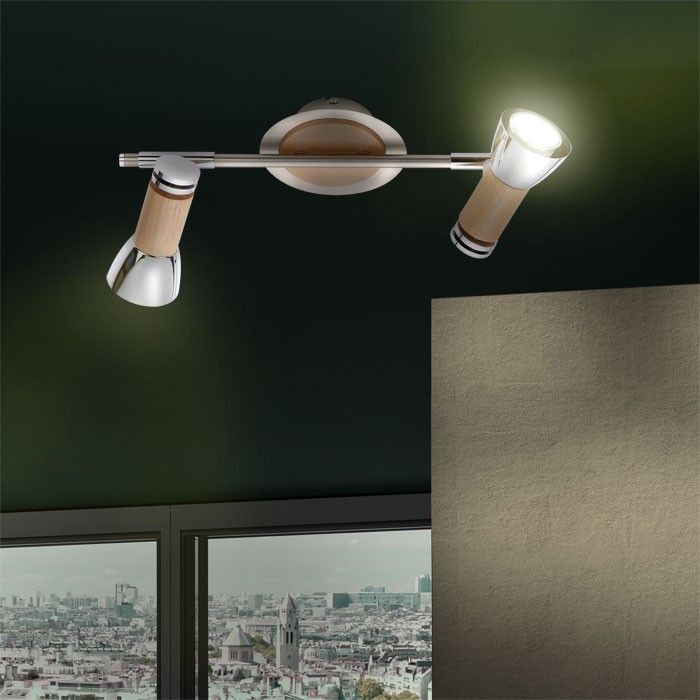 Badezimmer Lampe Flur Strahler Licht Wand Spot Beleuchtung Holz Decken Leuchte  eBay