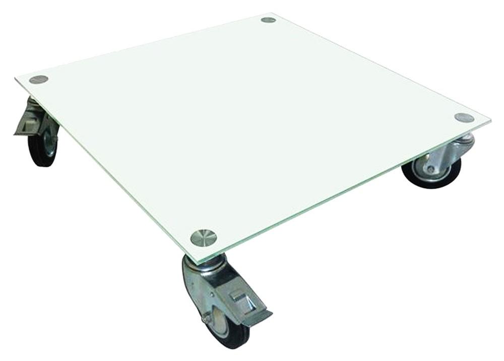 Glas Couchtisch Tisch Wohnzimmertisch Wohnzimmer Sicherheitsglas Ablage Rollen