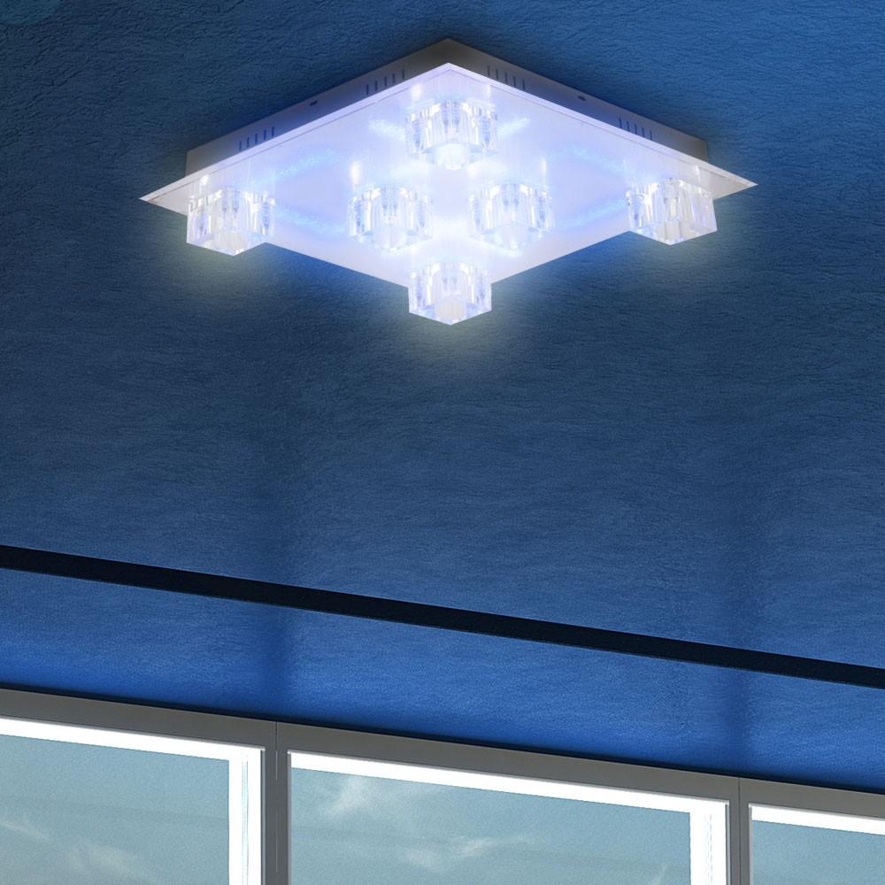 Wohnzimmer Lampe Deckenlampe LED Beleuchtung Fernbedienung Stufenschalter Lampe  eBay