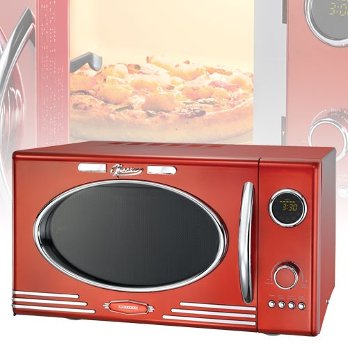 design r tro micro ondes rouge four micro ondes 25l micro ondes barbecue 12 ebay. Black Bedroom Furniture Sets. Home Design Ideas