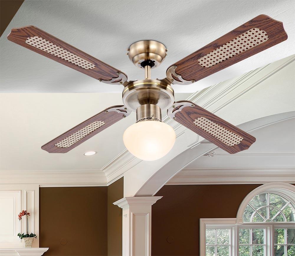Decken ventilator leuchte led lampe wohn ess zimmer wärme ...