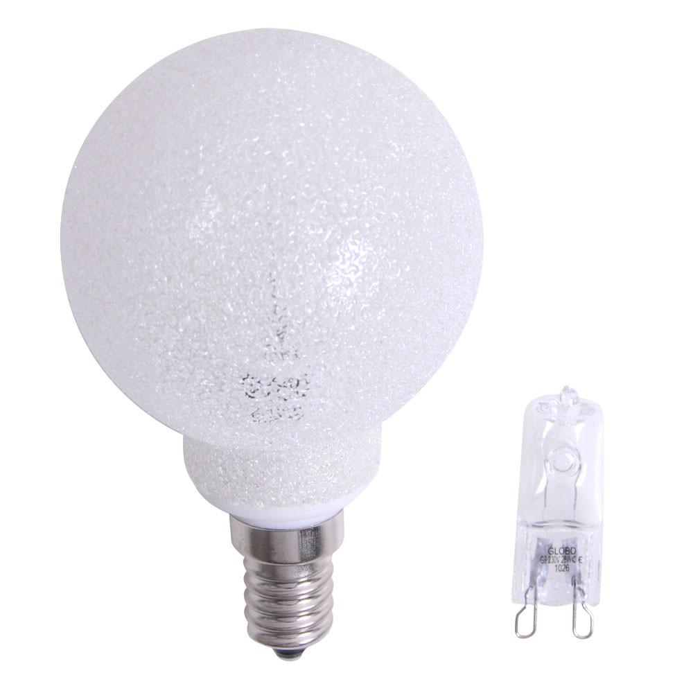 leuchtmitteladapter g9 auf e14 inkl halogen leuchtmittel globo 11268 lampen m bel. Black Bedroom Furniture Sets. Home Design Ideas