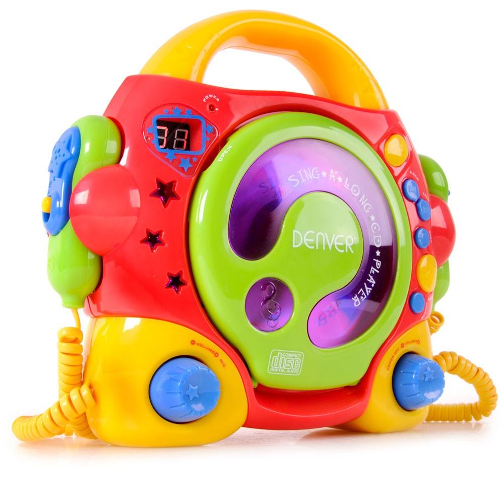 Portable Kinder Karaokeanlage 2 Mikrofone Cd Player Multi