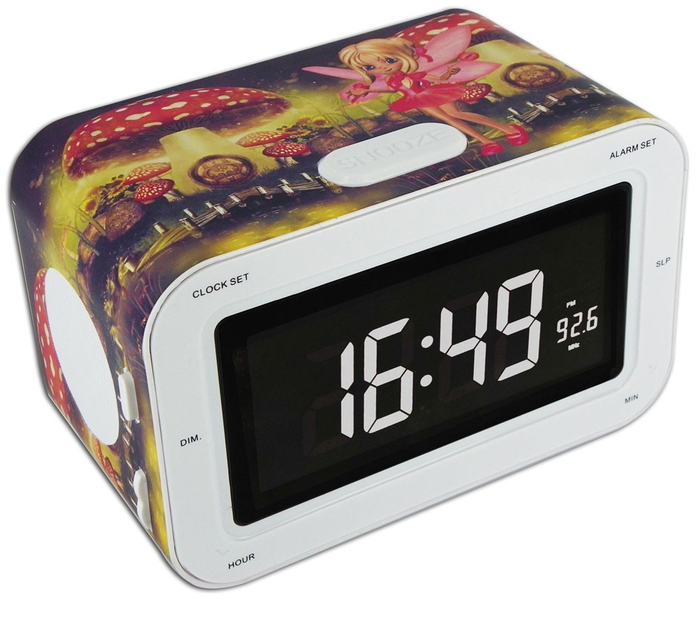 radio r veil horloge enfants fm mw radio cran lcd dimmable enfants ebay. Black Bedroom Furniture Sets. Home Design Ideas