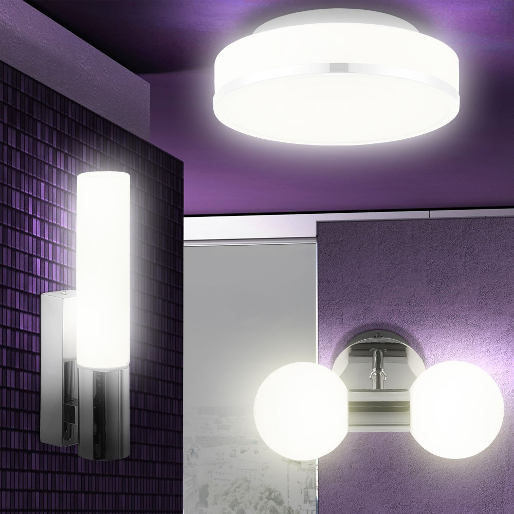 Salle de bain haut mur au plafond lumi re lampe clairage for Lampe murale salle de bain