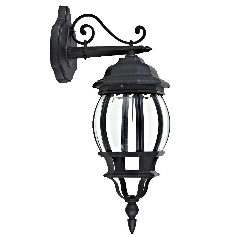 LED Wandleuchte 5 Watt Gartenlampe Wandlampe antike Außenleuchte IP44 Leuchte Lampe schwarz
