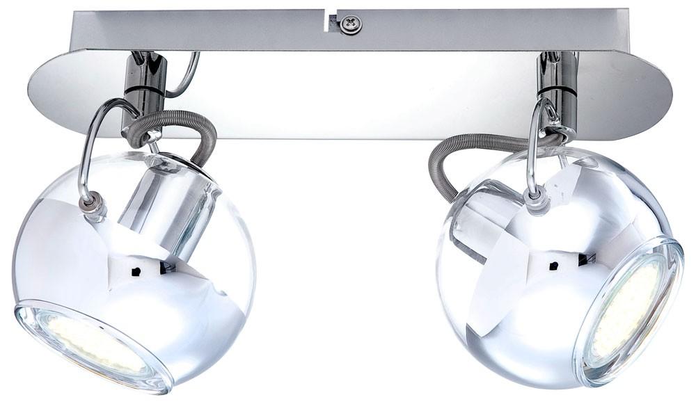 wand deckenstrahler aramid aus chrom mit klaren glaskugeln lampen m bel innenleuchten. Black Bedroom Furniture Sets. Home Design Ideas