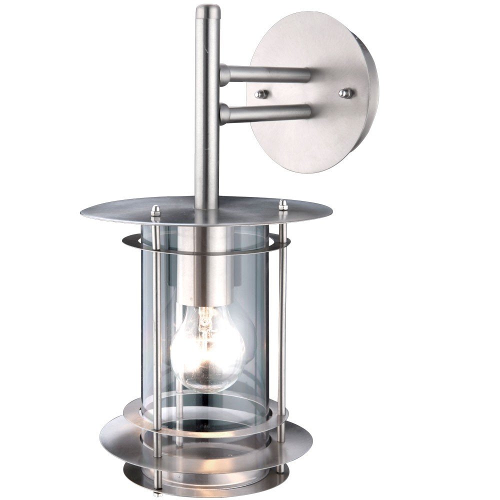 Stainless Steel Wall Lights Outside : Outdoor light stainless steel balcony lighting wall lamp Globo Miami 3150 Lamps & Lighting ...