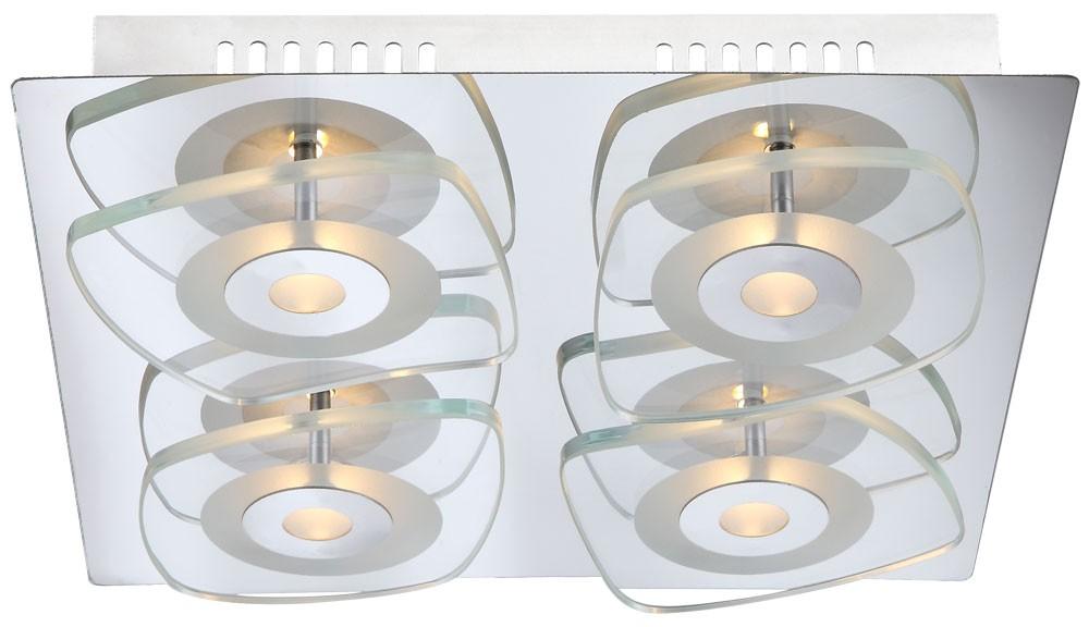 Lampe Wohnzimmer Leuchte Büro Flur Chrom 18 Watt Licht Globo 417104