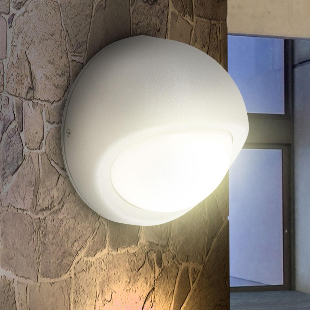 6 W LED Außen Lampe Wand Leuchte Balkon Einfahrt Terrasse