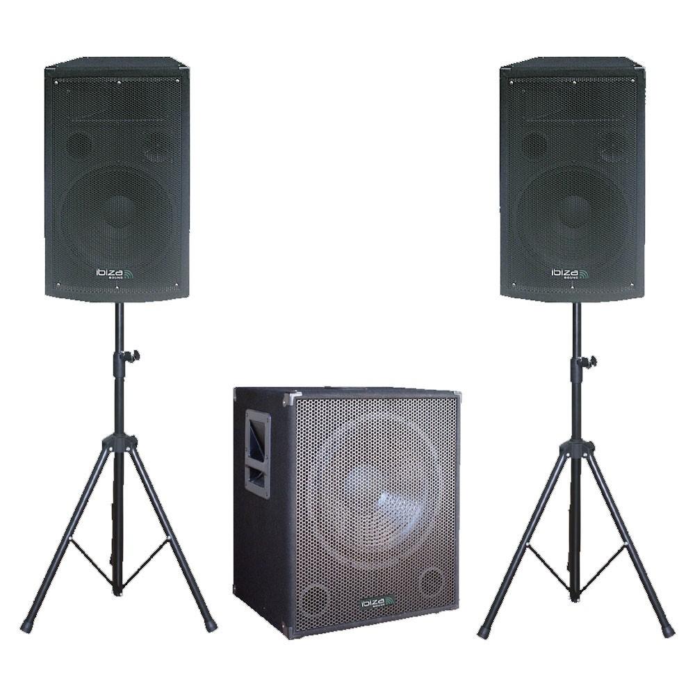 1400 Watt Partyanlage DJ-Anlage Aktivsystem Boxen PA Veranstaltungstechnik Subwoofer Cube 1512