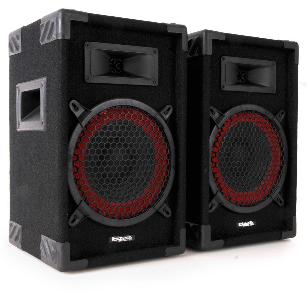 360 Watt PA Boxen 2-Wege Discoboxen Lautsprecher Paar Ibiza Star 8