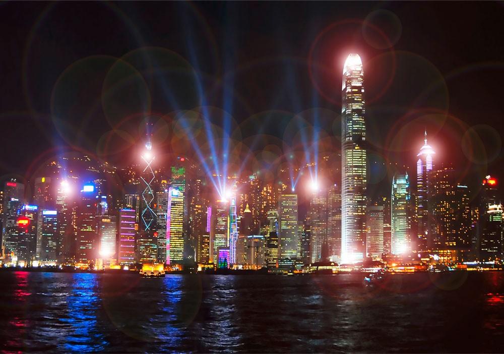 LED Leuchtbild Beleuchtung Wandbild Skyline Eglo 75035