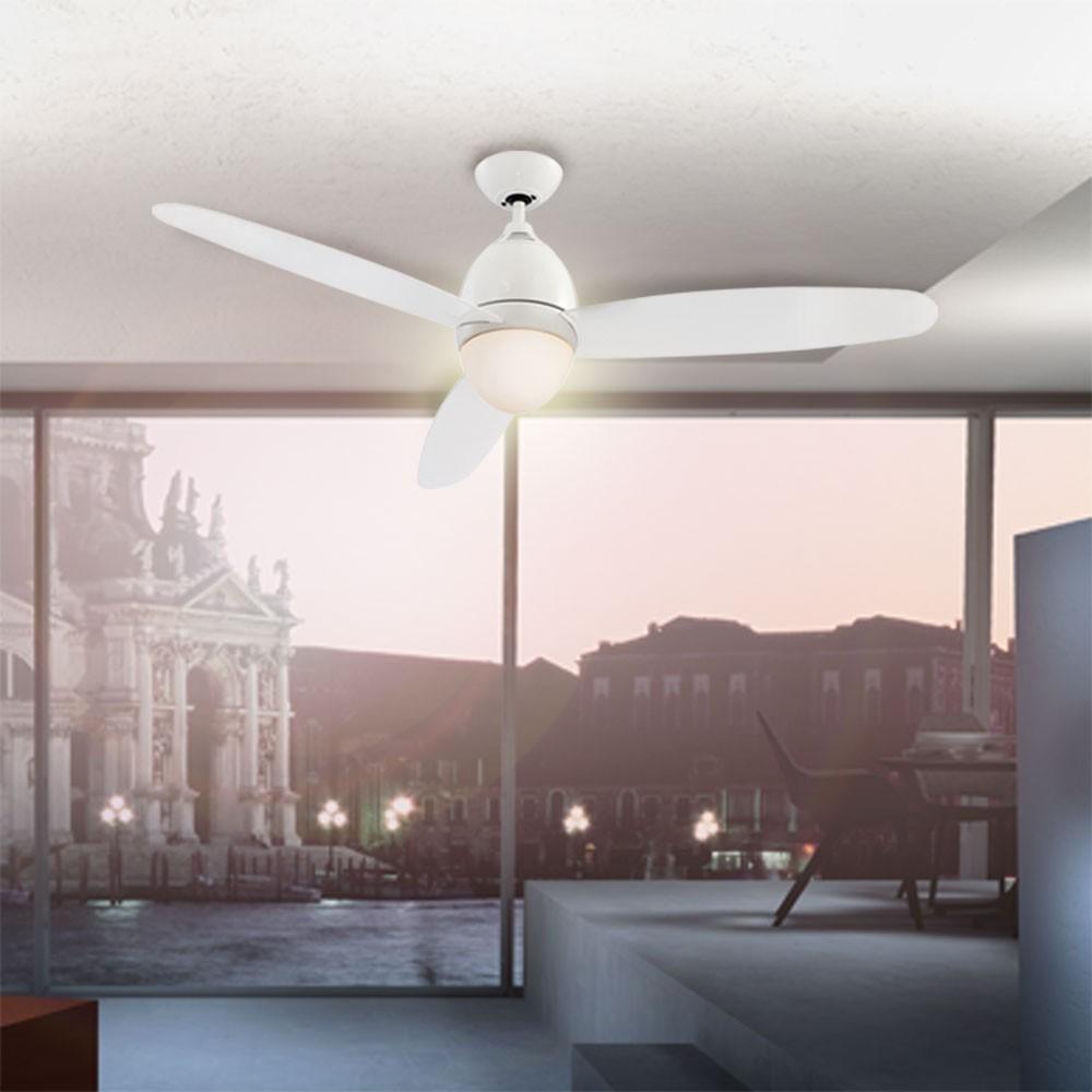 deckenventilator mit led beleuchtung und fernbedienung k che haushalt klima heizger te. Black Bedroom Furniture Sets. Home Design Ideas