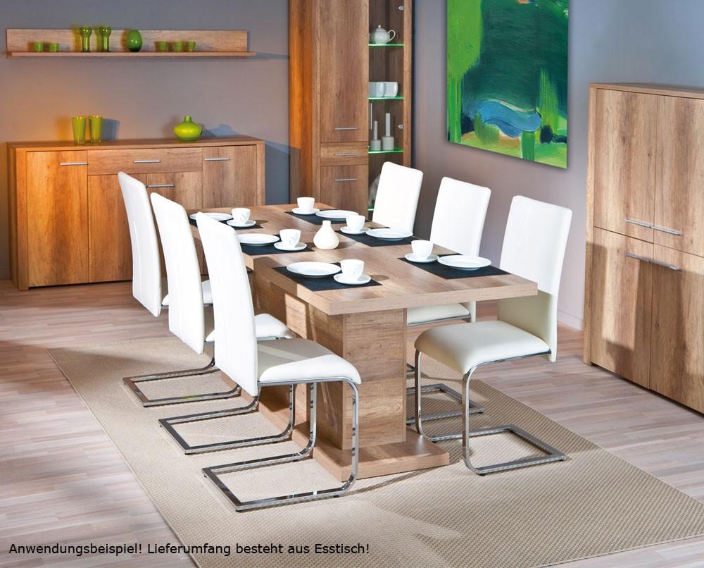 esstisch holz k chentisch ausziehbar kf board wildeiche ausziehtisch modern edel ebay. Black Bedroom Furniture Sets. Home Design Ideas