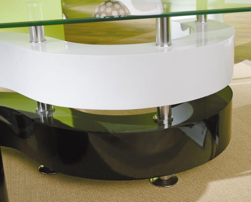 Moderner couchtisch aus robustem metall und sicherheitsglas lampen ...