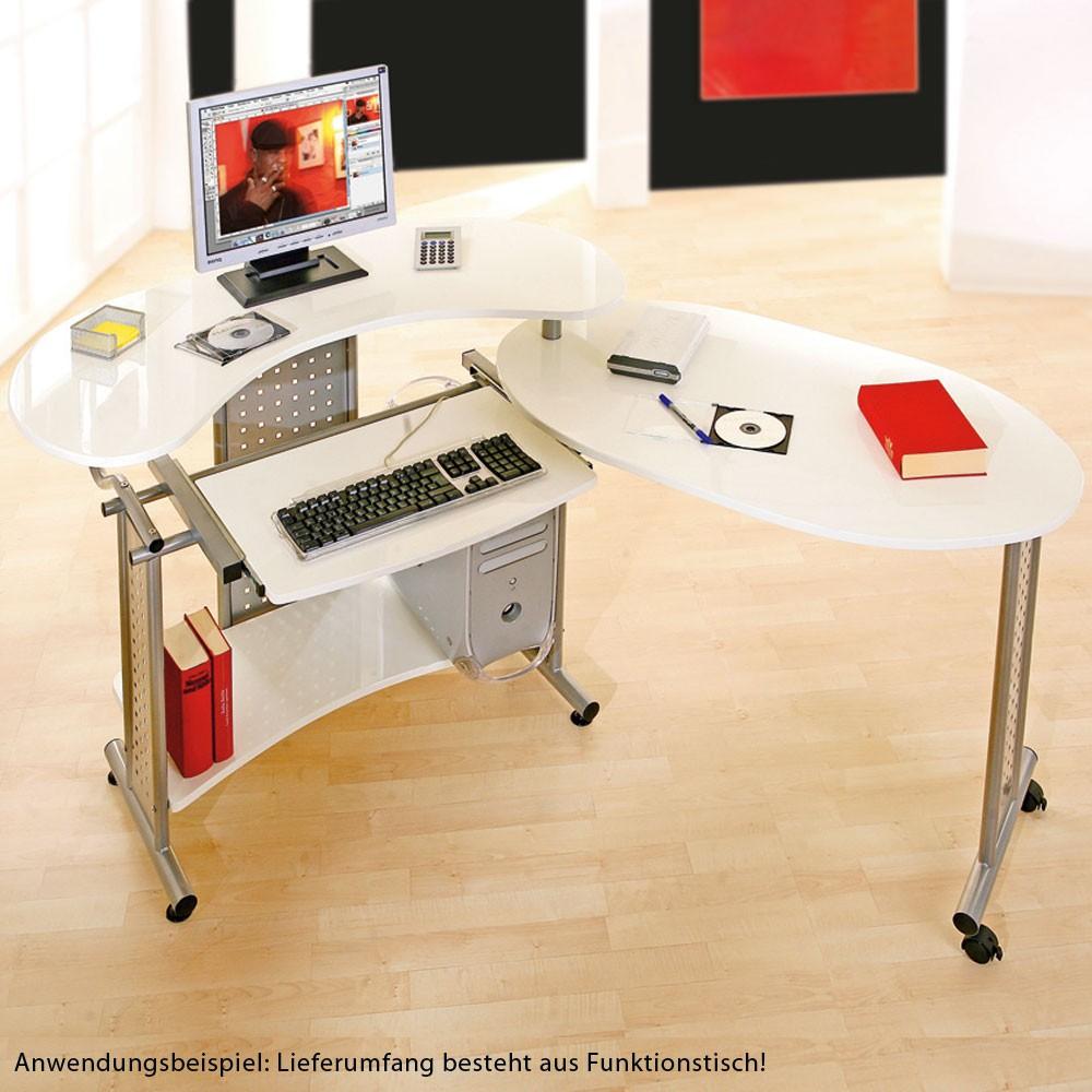 schreibtisch drehbar rollen schwenkbar tisch arbeit arbeitszimmer b ro pc m bel. Black Bedroom Furniture Sets. Home Design Ideas
