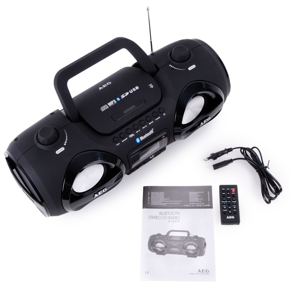 stereo radio soundbox cd mp3 mit bluetooth aeg sr 4359 bt. Black Bedroom Furniture Sets. Home Design Ideas