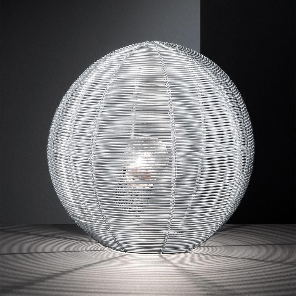 tisch lampe led 5 w beleuchtung draht kugel leuchte b ro schreibtisch wohnzimmer ebay. Black Bedroom Furniture Sets. Home Design Ideas