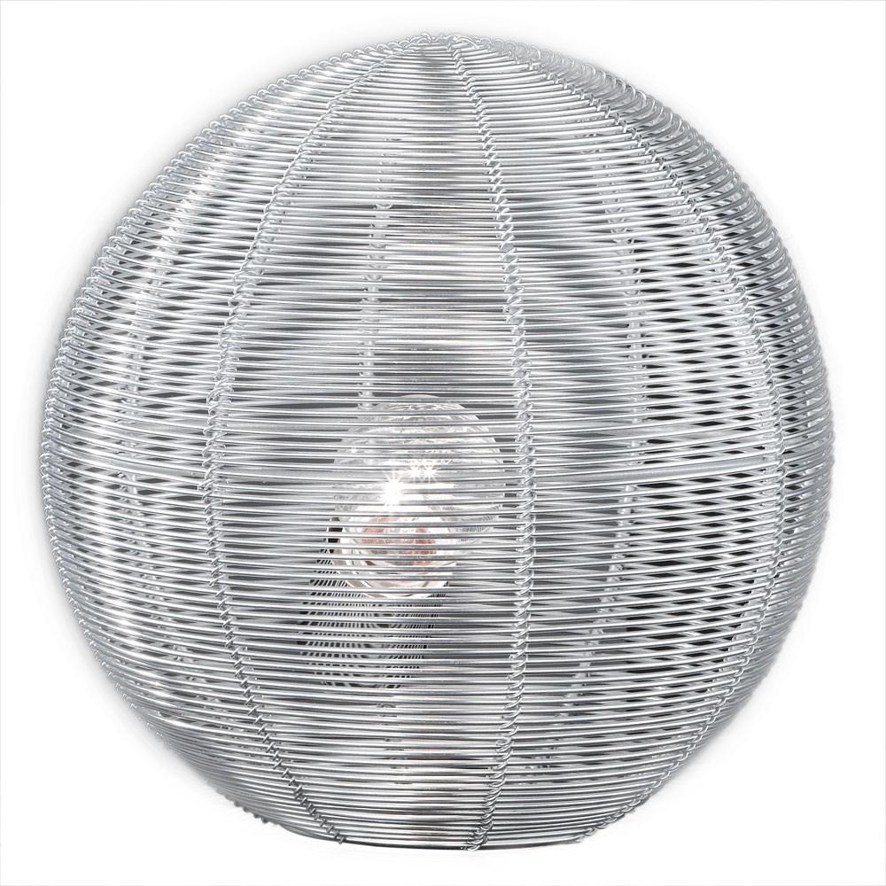 Led 5 watt tischleuchte drahtkugel leuchte lampe wohnzimmer chrom