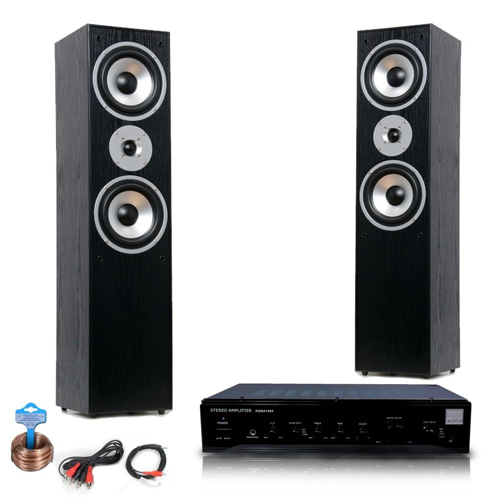 hifi anlage mit verst rker und zwei standboxen audio technik audio hifi komplettsysteme. Black Bedroom Furniture Sets. Home Design Ideas
