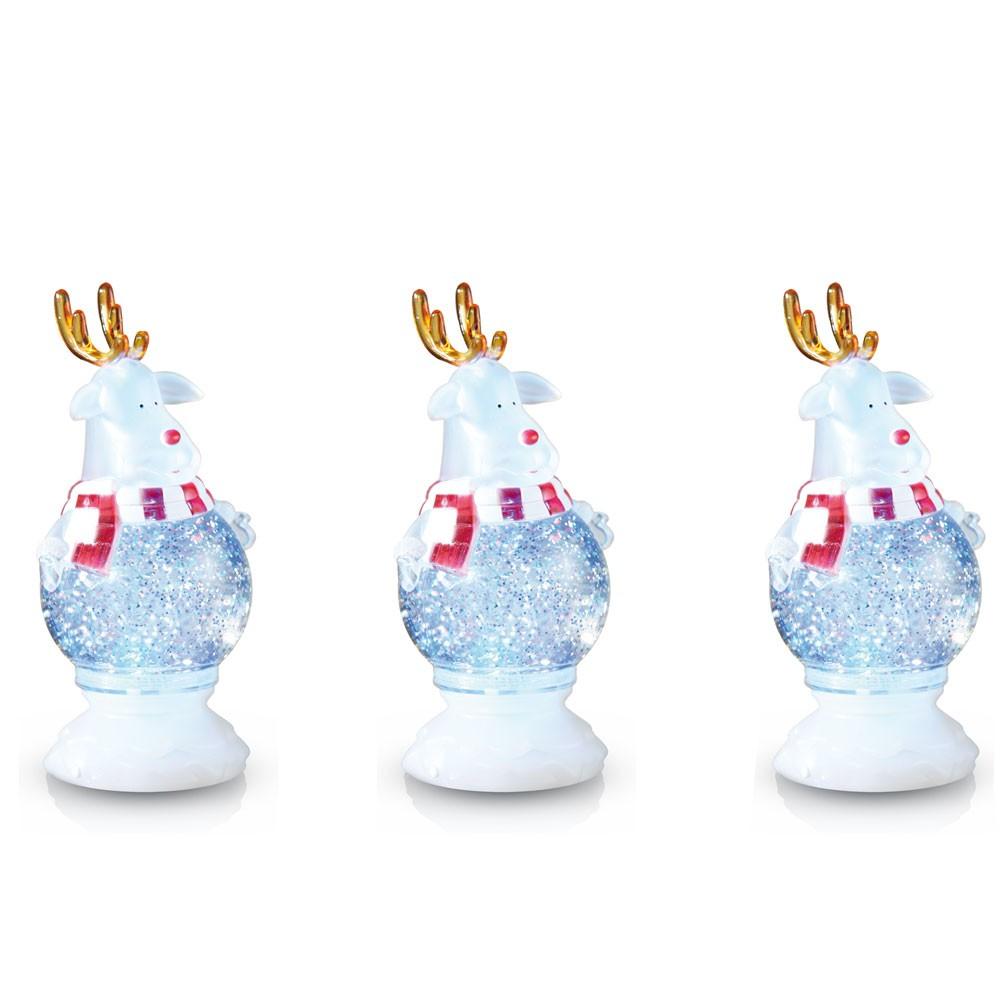 3er set led rentier tischlampe weinachten dekoration rgb for Rentier dekoration